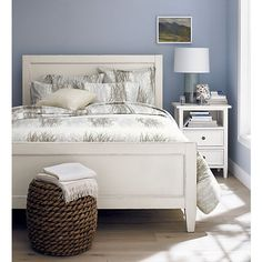 Harbor Bed with 2-Drawer Nightstand I Crate and Barrel