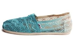 Toms Baltic Dip-Dyed Women's Crochet Classics 10001334 (SIZE: 7.5)