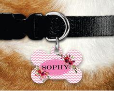 Personalized Dog Tag - Dog ID Tag - Personalized Bone Dog Tag - Custom Pet ID Tag - Dog Tags For Dogs by MysticCustomDesignCo on Etsy