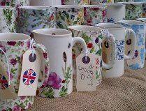 Beautiful jugs at the Treacle Market Macclesfield