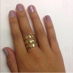 BCBG MaxAzria set of 3 ring set Upper cute zig zag design gold Aztec style rings size 5. Two ways to wear it! BCBGMaxAzria Jewelry Rings