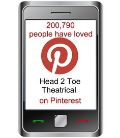 As of today, over 200,790 people have loved something on the Head 2 Toe Theatrical Pinterest boards.  https://www.pinterest.com/h2ttheatrical/