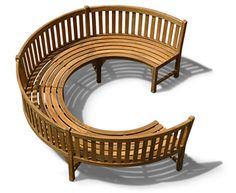 quarter circle wicker chair | Home > Garden Benches > Garden Benches(all) > Henley Teak Curved ¾ ...