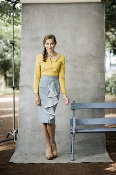 Fresh Clover Top With Rolled Sleeves from the Aussie Afternoon Collection by Shabby Apple