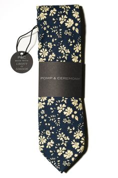 Handsome mens ties made with classic Liberty prints.  Light weight cotton, great for warmer weather  Measures 60 long and 2.75 at the widest