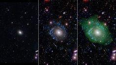 A simple vista (izquierda) UGC 1382 parece una simple galaxia elíptica. Pero un análisis más atento en el ultravioleta hace que…