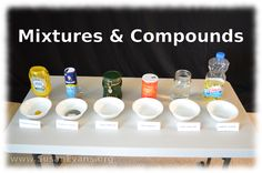 Mixtures and Compounds (with video demonstration)… 8th Grade Science, Science Curriculum, Middle School Science, Elementary Science, Teaching Science, Science Education, Science For Kids, Science Activities, Physical Education
