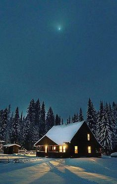 Winterbilder… - Everything You Need To Know About Survival Skills Winter Szenen, Winter Cabin, Winter Time, Snow Cabin, Winter Night, Foto Nature, Cabin In The Woods, Snowy Day, Snow Scenes