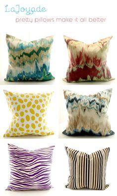 great silk ikat pillows #etsy