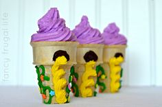 Tangled Cupcake Tower Tutorial | The only tutorial I could find for these cupcakes.