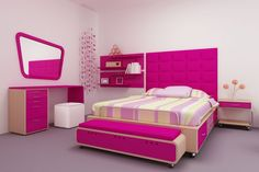 graceful-teenage-girls-bedroom-decorating-ideas-with-movable-wooden-platform-beds-be-equipped-storage-drawers-on-the-right-side-and-pink-upholstered-fabric-king-headboard-shapes-next-to-floating-books-1120x746.jpg (1120×746)