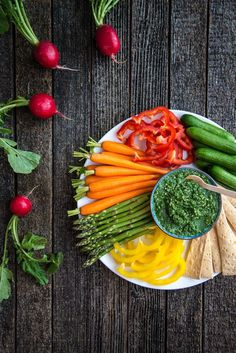 Eye of the Tiger - dip with a colorful spread of veggies!