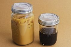 I never knew I had a need for an on-the-go mason jar, but I am sold...summer iced coffee just looks like it'd be tastier consumed out of a travel mason jar