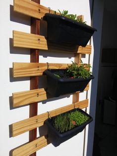 Painel simples para horta vertical
