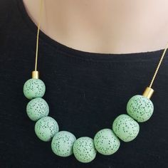 Lava green beads are the new style! With any outfit, to any occasion!