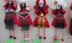 Christmas Origami, Christmas Ornaments, Baba Marta, International Craft, Yarn Dolls, My Heritage, Crochet Toys, Projects To Try, Funny Food