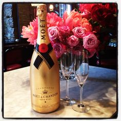 Gold Moet & Chandon Champagne ,Please make reservations for 2 , take someone special and let them know , I wish dreams were like wishes, and wishes came true, cause in my dreams I'm always with you.