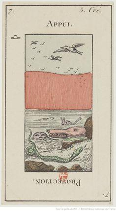 "[Jeu de tarot divinatoire dit ""Grand Etteilla"" ou ""tarot égyptien""] : [jeu de cartes, estampe]   Gallica"