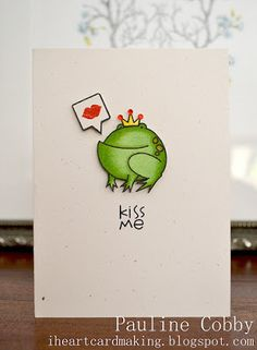 Kiss Me card by Pauline Cobby - Paper Smooches - A Little Lovin