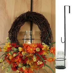 Mason Jar Wreath Candle Holder