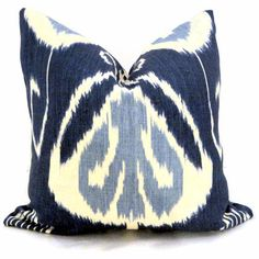 Indigo Ikat, Robert Allen Decorative Pillow Cover 18x18 {x2 for sectional}