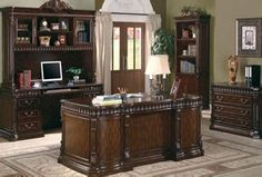 Coaster Furniture - Union Hill Home Office Set - Home Office Furniture Desk, Corner Furniture, How To Clean Furniture, Classic Furniture, Contemporary Furniture, Furniture Sets, Furniture Design, Furniture Cleaning, Furniture Outlet