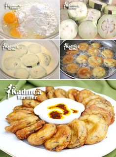 Bakery Eggplant Fries Recipe, How to Make - Cooking Method Armenian Recipes, Turkish Recipes, Veggie Recipes, Vegetarian Recipes, Cooking Recipes, Good Food, Yummy Food, Healthy Side Dishes, Mets