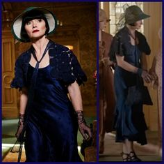 JDS - Miss Fisher's gorgeous midnight blue dress and lace bolero, S3 Ep5