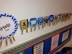 My Grade 7 iHelp board for classroom jobs