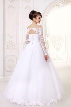 Long A-Line Lace Long Sleeves Wedding Dress - My Best Dress