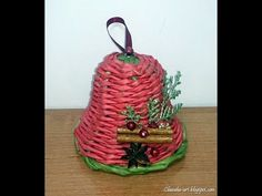 Jak zrobić dzwoneczek z papierowej wikliny? [bell, paper wicker] (Claood...