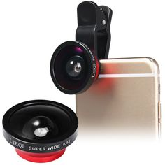 0.4X Super Wide Lens Universal Clip Lens Mobile Phone Lens by LIEQI for iPhone Samsung Galaxy Smartphone. Super wide angle and low distortion,Effectively avoids image contortion leads to clear and bright picture quality ocular. High quality technical image effect Without Vignetting and Dark Circle. Nano high penetrability,low reflection coating technique. Magnification : 0.4X super wide cellphone lens, can shoot wide. Maximum Angle : 140°. Portable & Detachable Lens for Mobile Phone…