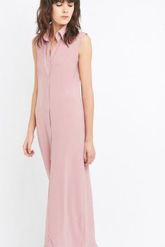 Pin for Later: You'll Be Wearing This Updated Staple All Summer Long Kamali Kulture NK Sleeveless Pink Maxi Shirt Dress Kamali Kulture NK Sleeveless Pink Maxi Shirt Dress (£167)