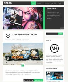 MH Cicero Demo : WordPress Blogging Theme by MH Themes http://www.awordpressthemesreview.com/mh-cicero-review/ #WordPress