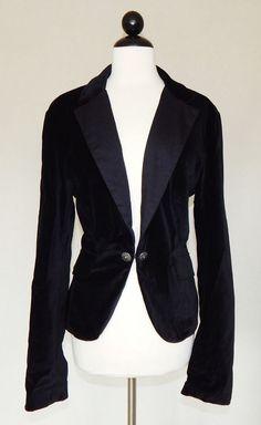 LUCKY BRAND Black Velvet Tuxedo Style Jacket Blazer Holiday Party - Size XL #LuckyBrand #BasicJacket #Evening