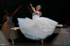 Ballet dancer Mayuco Nihei of the national company of dance performs at the Esperanza Iris Teather on June 05, 2009 in Mexico City, Mexico.