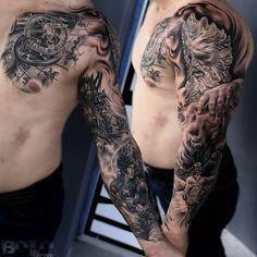 from @boloarttattoo -  sleeve tattoo in process !!!... @boloarttattoo #Inkaholiktattoos#Inkaholiks#Inkaholik#InkaholikTheChurch#Miami#MiamiTattoos#BirdRd#instapic#instatattoo#tatt#tatts#tattoed#inked#tattoos#tattoo#tattooartist#artist#newtattoo#nofilter#L