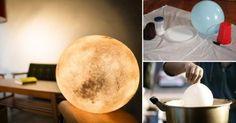 Fabrica una creativa lámpara que te permitirá disfrutar de tu propia luna llena todos los días, dentro de tu hogar. Diy Arts And Crafts, Paper Crafts, Diy Crafts, Diy Lampe, Paperclay, Christmas Makes, Lampshades, Craft Fairs, Diy For Kids