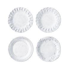 Vietri Incanto Assorted Set of Four Canape Plate