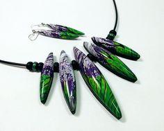 Wendy Jorre de St Jorre: Jacaranda Avenue necklace and ear rings