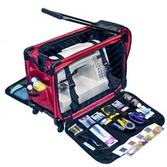 Tutto Red Medium Machine On Wheels  This is a great case for my sewing machine