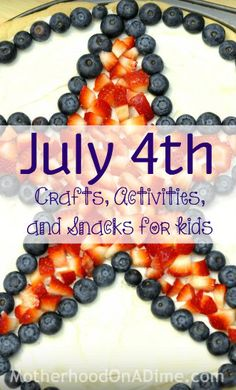 July 4th fruit idea ~ put this on a large cookie, cake, cupcakes  fruit tray (other fruits around outside of star)