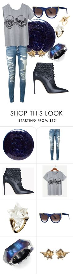 """See no evil"" by ice2fire ❤ liked on Polyvore featuring Lauren B. Beauty, Hudson, Dsquared2, Thierry Lasry, Alexis Bittar and Auden"