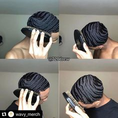 with One of our ambassadors is making. Waves Hairstyle Men, Waves Haircut, Mens Braids Hairstyles, Black Men Hairstyles, Hair And Beard Styles, Curly Hair Styles, Natural Hair Styles, Black Boys Haircuts, Haircuts For Men