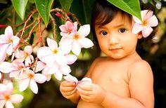 Plumeria Princess - baby, blossoms, child, hawaiian, keiki, plumeria