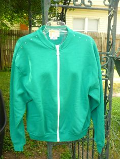 Hand Decorated Sweat Jacket by donnawynschenk on Etsy, $30.00