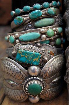 My Bohemian Style  Mmmmm…..turquoise!  ayyplusvee:    Turquoise bracelets…