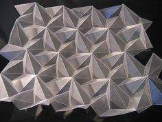 folded frosted polypropylene 200 micron by Polyscene paper folding