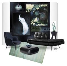"""""""Artfully Walls"""" by merlothues ❤ liked on Polyvore featuring interior, interiors, interior design, home, home decor, interior decorating, Souda, Astek and LifeStyle Solutions"""