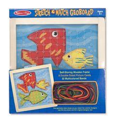 AmazonSmile: Melissa & Doug Stretch and Match Geoboard: Toys & Games